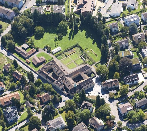 Kapuzinerkloster Wesemlin in Luzern, Flugaufnahme