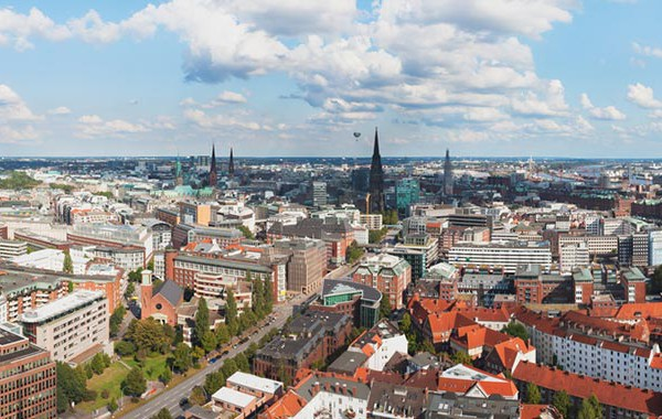 Luftaufnahme von Hamburg